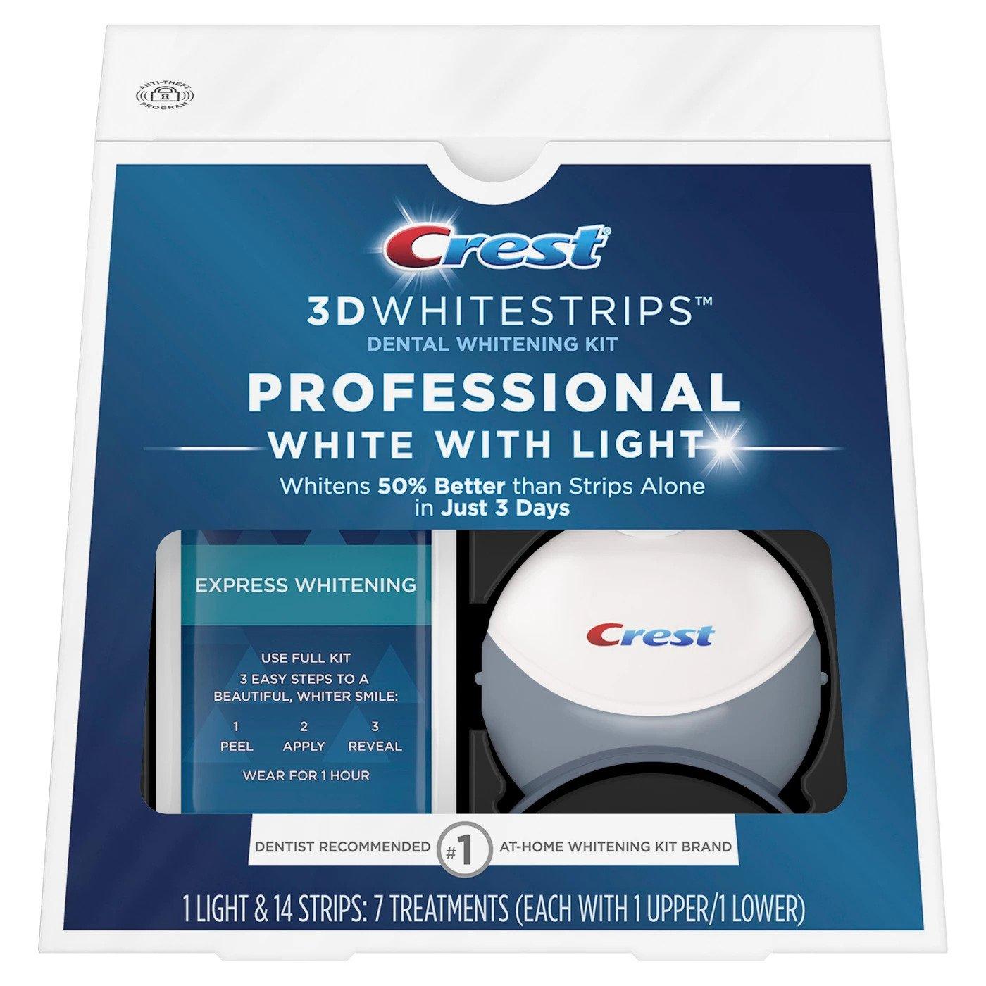 Bělicí pásky Crest Professional white se světlem