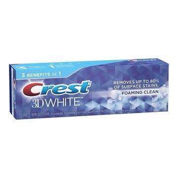 Bělicí zubní pasta Crest 3D White FOAMING CLEAN