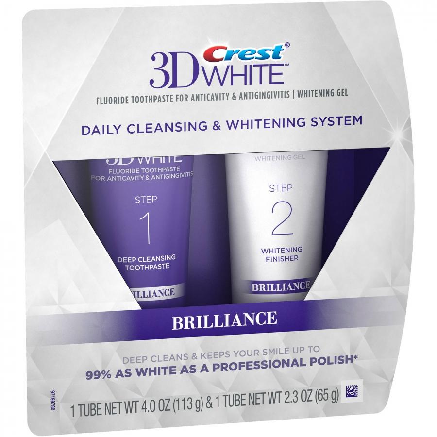 Bělicí gel na zuby a zubní pasta Crest BRILLIANCE
