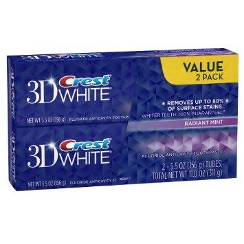dvojbalení bělicí zubní pasta Crest Radiant Mint