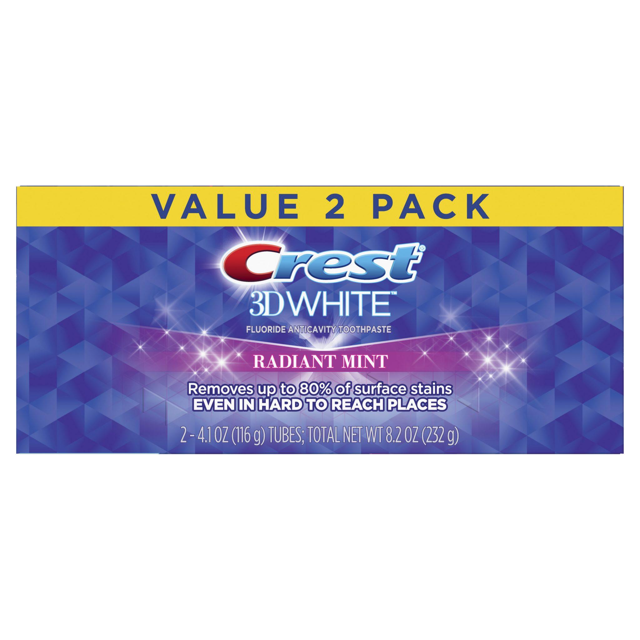 DVOJBALENÍ Crest 3D White Radiant Mint