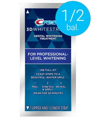 Poloviční balení Crest bělicí pásky Professional effects