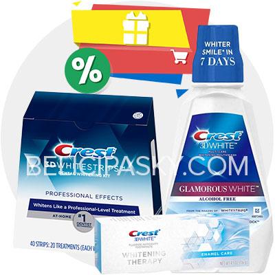 Výhodní balíček bělicí pasky professional effects pasta enamel care ústní voda glamorous