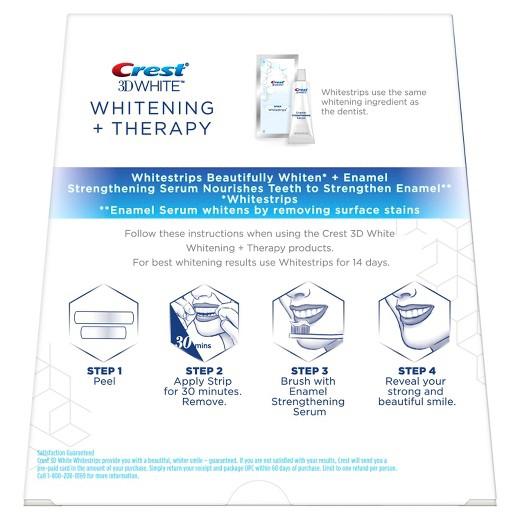 Bělicí pásky Crest 3D Whitening Therapy se sérem na ochranu skloviny