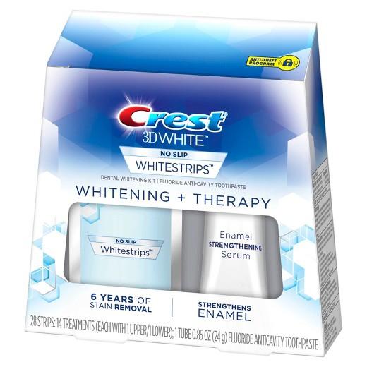Bělicí pásky Crest 3D Whitening Therapy se sérem na posílení skloviny