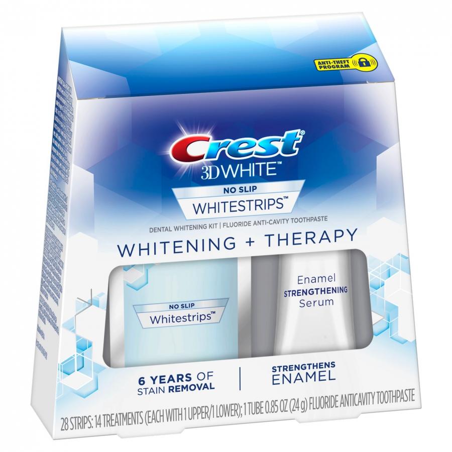 Bělicí pásky Crest 3D Whitening Therapy se sérem na sklovinu