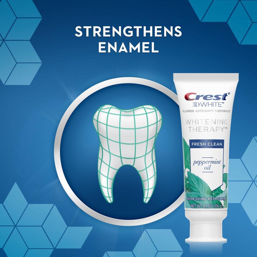 Bělicí zubní pasta Crest 3D Whitening Therapy PEPPERMINT OIL