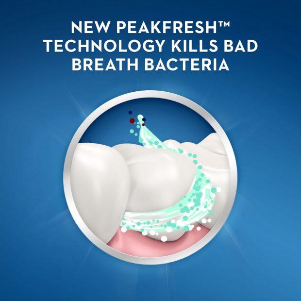 Bělicí zubní pasta na zápachu z úst Crest BRILLIANCE BLAST