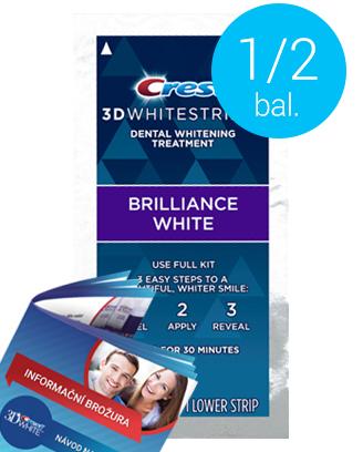 Poloviční balení Crest 3D BRILLIANCE White