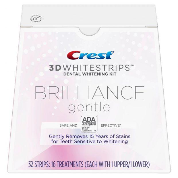 Bělicí pásky Crest Brilliance gentle na citlivé zuby