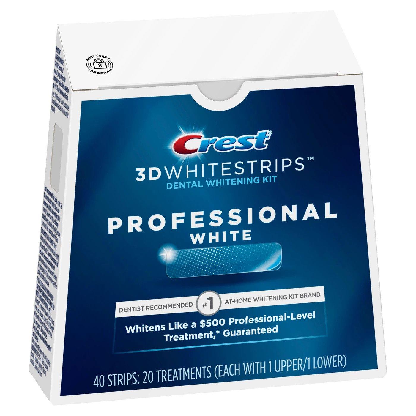Bělicí pásky na zuby Crest Professional white