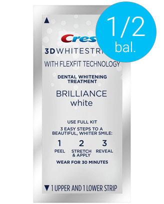 Poloviční balení Crest bělicí pásky Brilliance