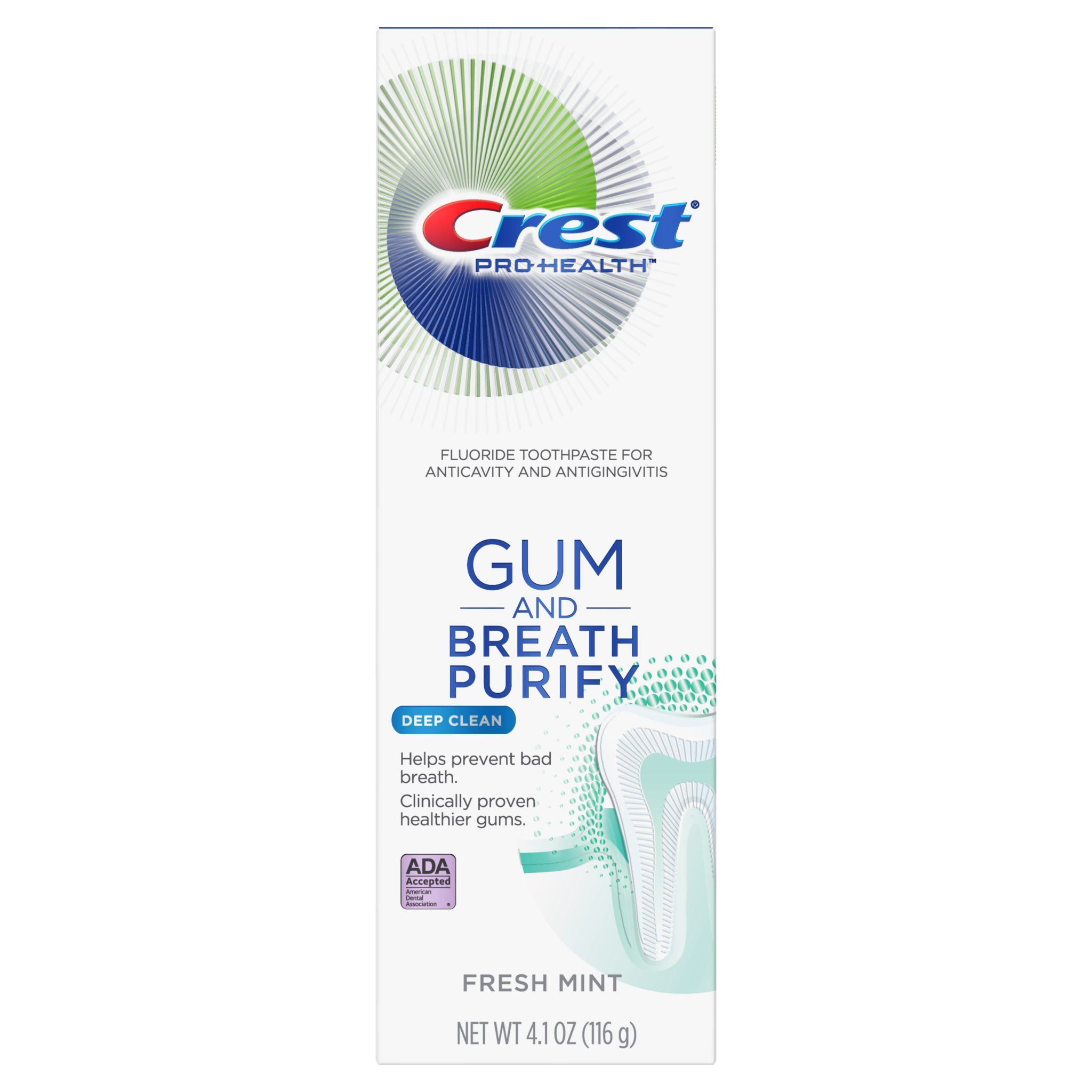 Zubní pasta pro svěží dech CREST GUM AND BREATH PURIFY Deep Clean