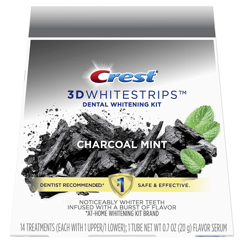 Bělicí pásky Crest 3D White CHARCOAL MINT