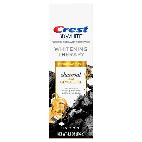 Černá bělicí zubní pasta Crest 3D WHITE CHARCOAL Ginger Oil