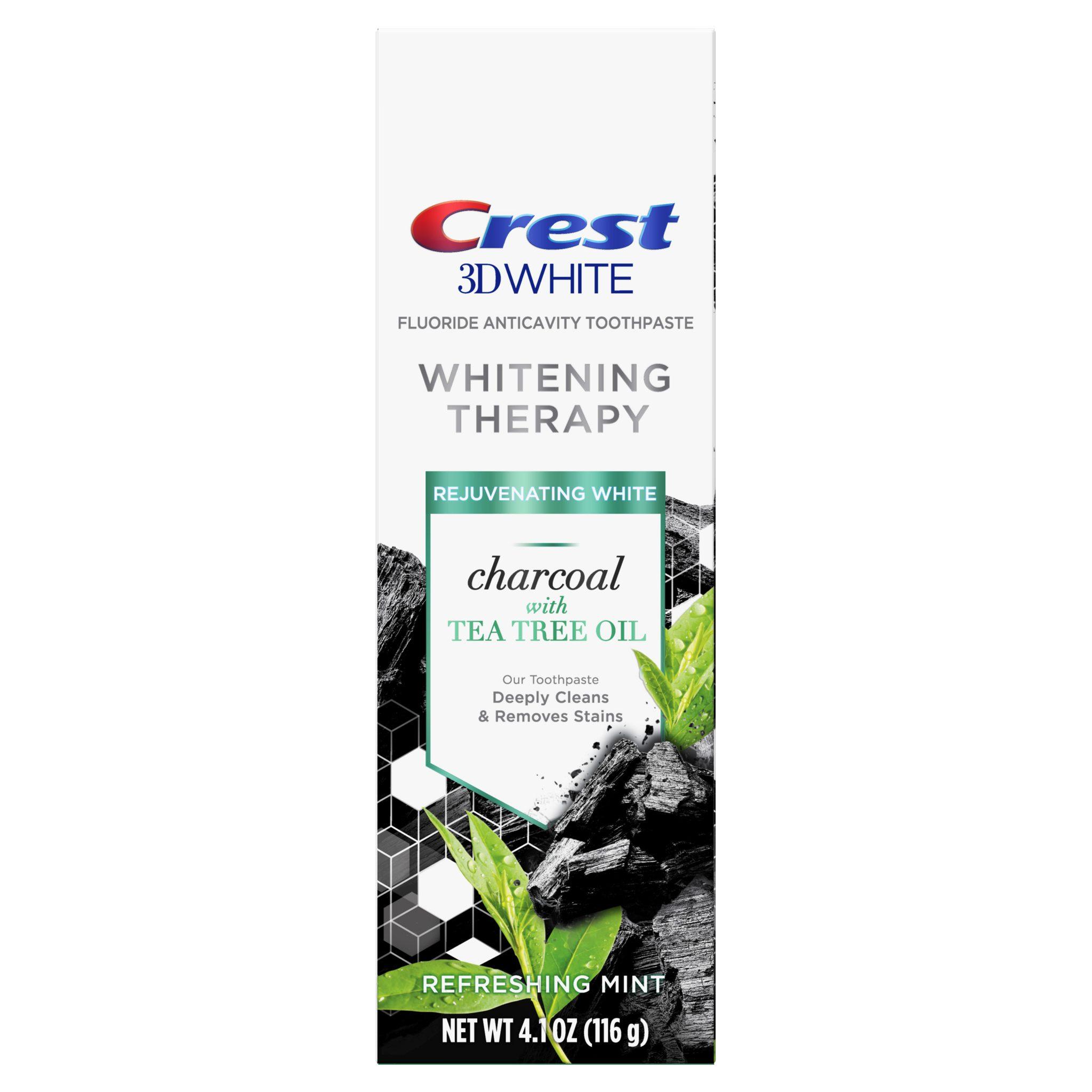Černá bělicí zubní pasta Crest 3D WHITE CHARCOAL Tea Tree Oil